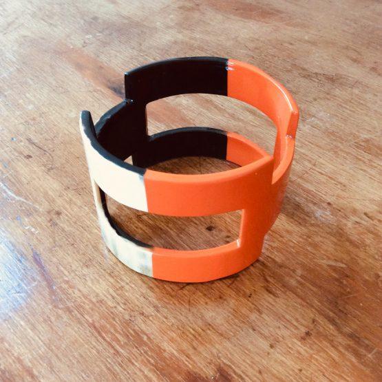 bracelet corne laque
